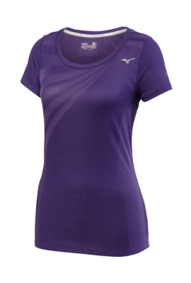 Mizuno Running Womens Training Apparel(Dia/Ath) Tops Short Sleeve
