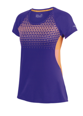 Mizuno Running Womens Training Apparel(Dia/Ath) Tops Short Sleeve